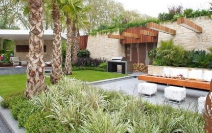 Ултрамодерна градина со мини базен
