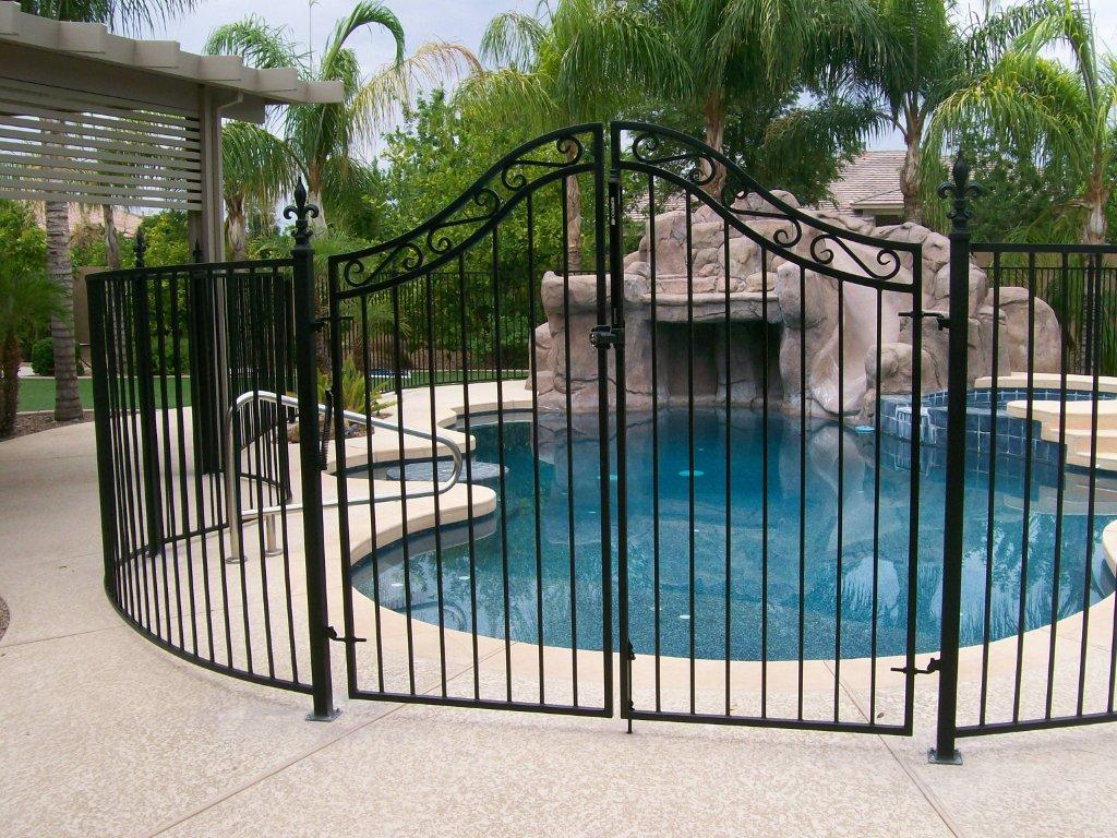 for Above ground pool gate ideas