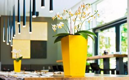 Едноставни модерни саксии и жардиниери за цвеќе
