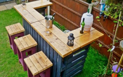Градинарски мебел од дрвени палети