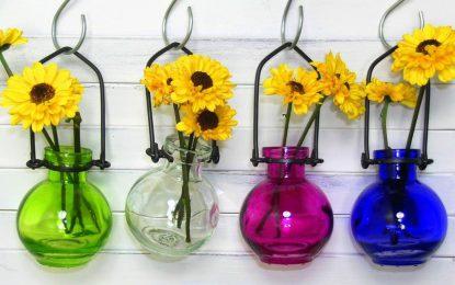Модерни стаклени вази за ентериери
